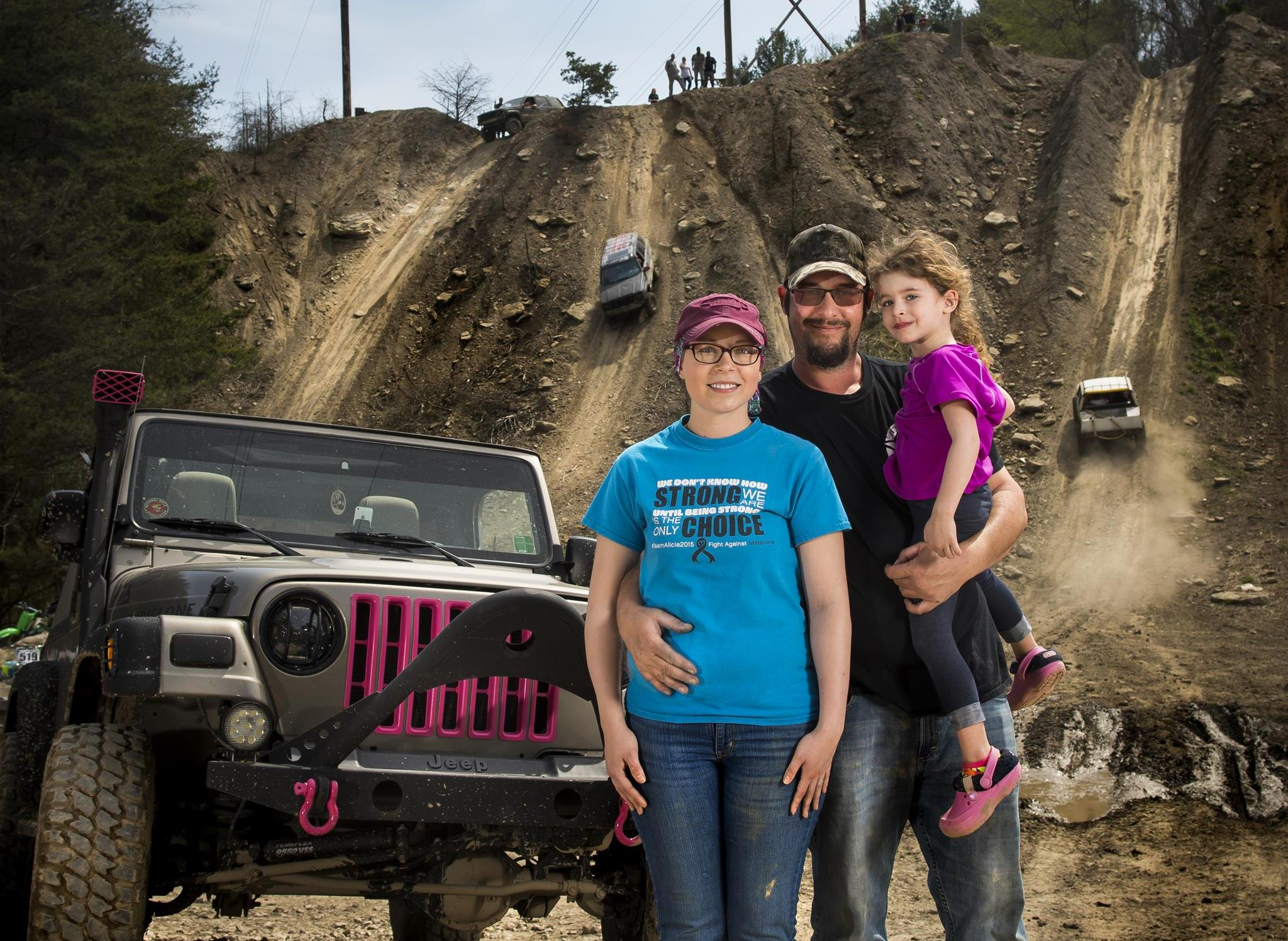 Cancer survivor Alicia Mitchell and family