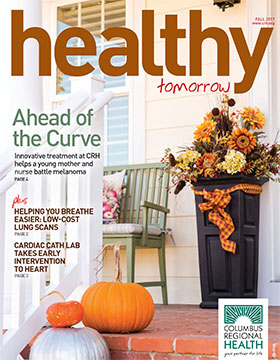Fall 2017 Healthy Tomorrow cover