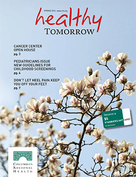 Healthy Tomorrow Spring 2016 issue cover