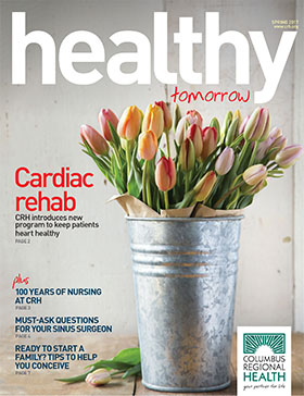 Spring 2017 Healthy Tomorrow magazine cover
