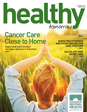 Summer 2018 Healthy Tomorrow cover