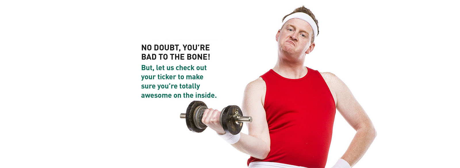 Man in athletic attire lifting a dumbbell.