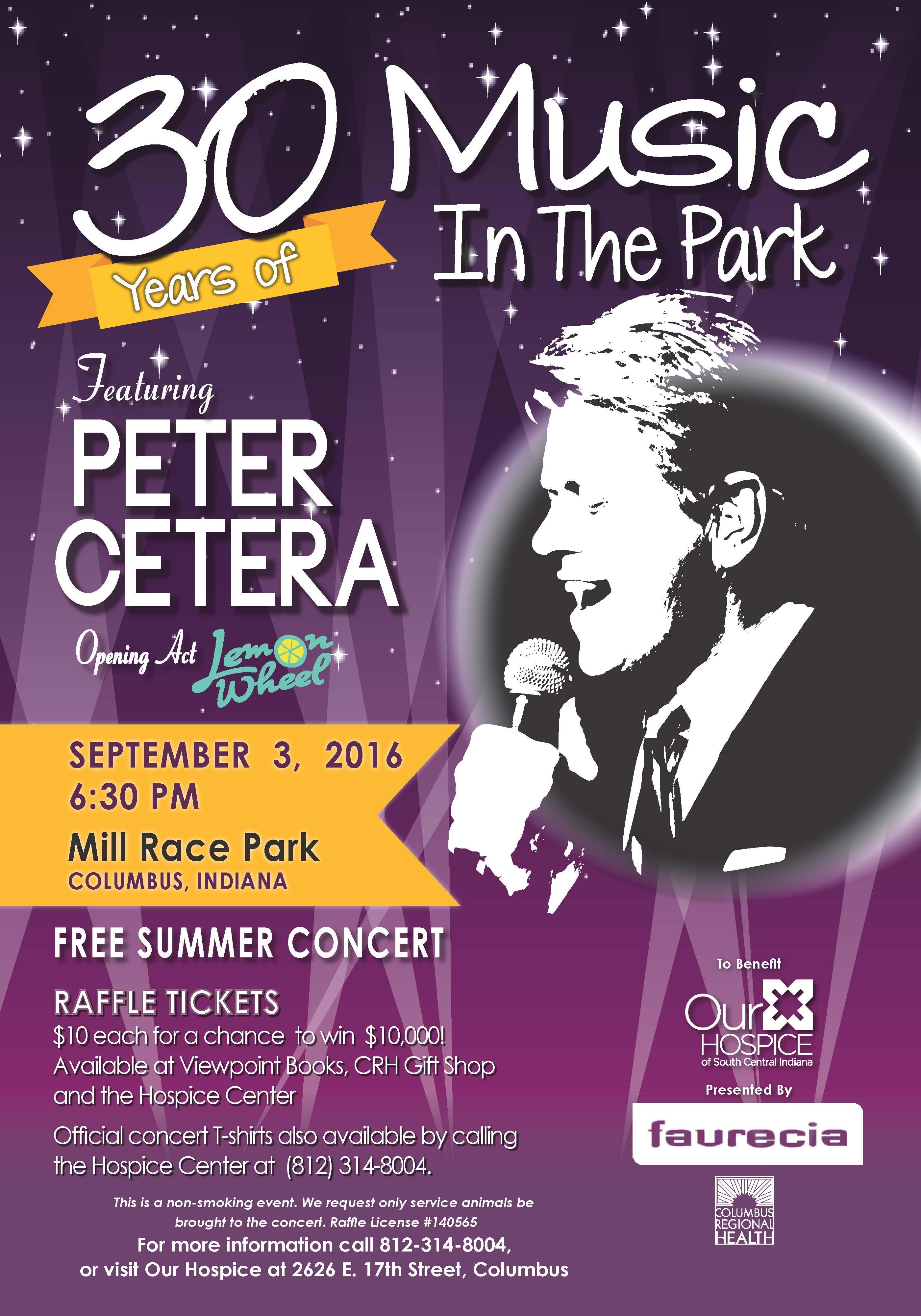 Peter Cetera concert poster