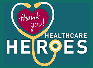 Healthcare Heroes yard sign design.
