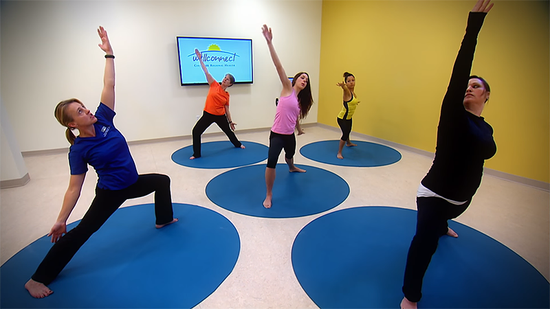Yoga class at WellConnect