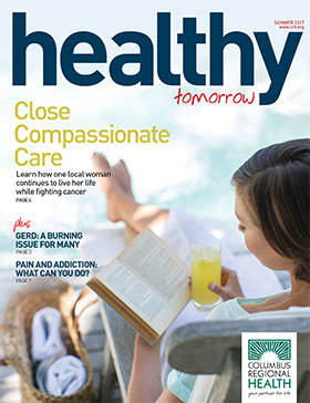 Front cover of summer issue of Healthy Tomorrow