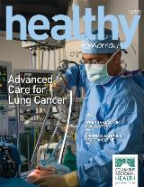 Spring 2019 Healthy Tomorrow cover featuring Dr. Deep Sharma