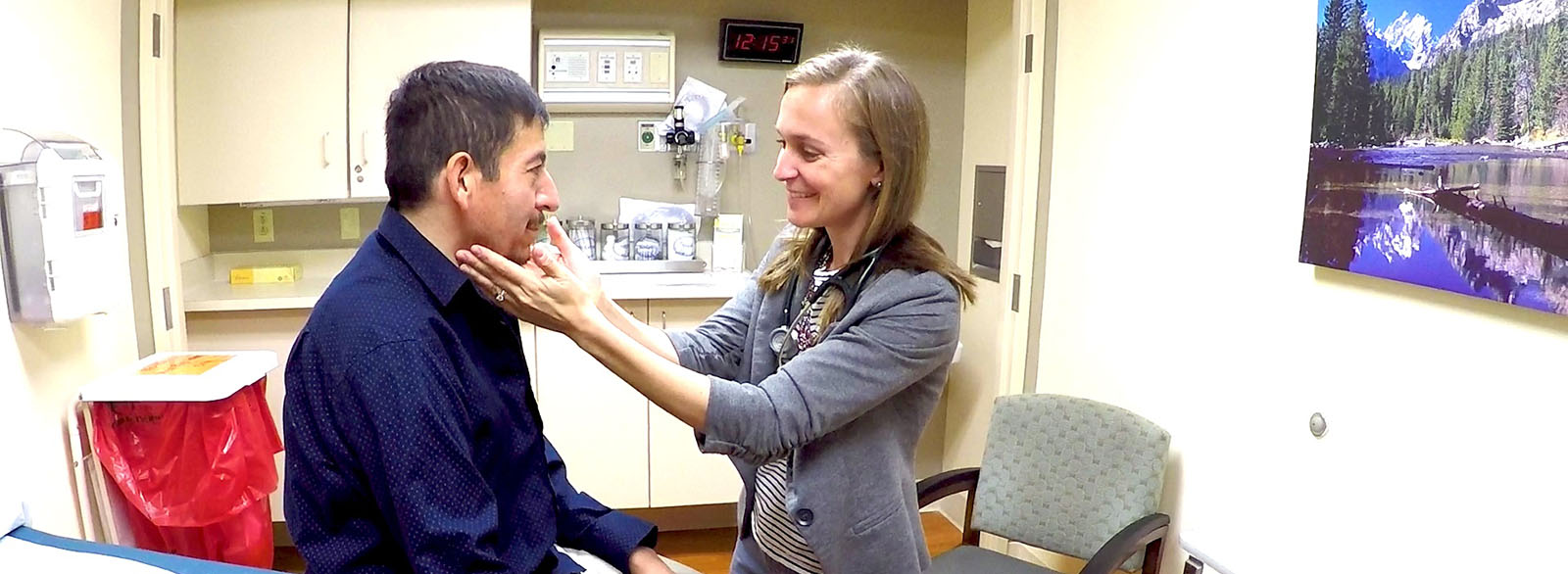 Dr. Hale seeing a patient at VIMCare Clinic.