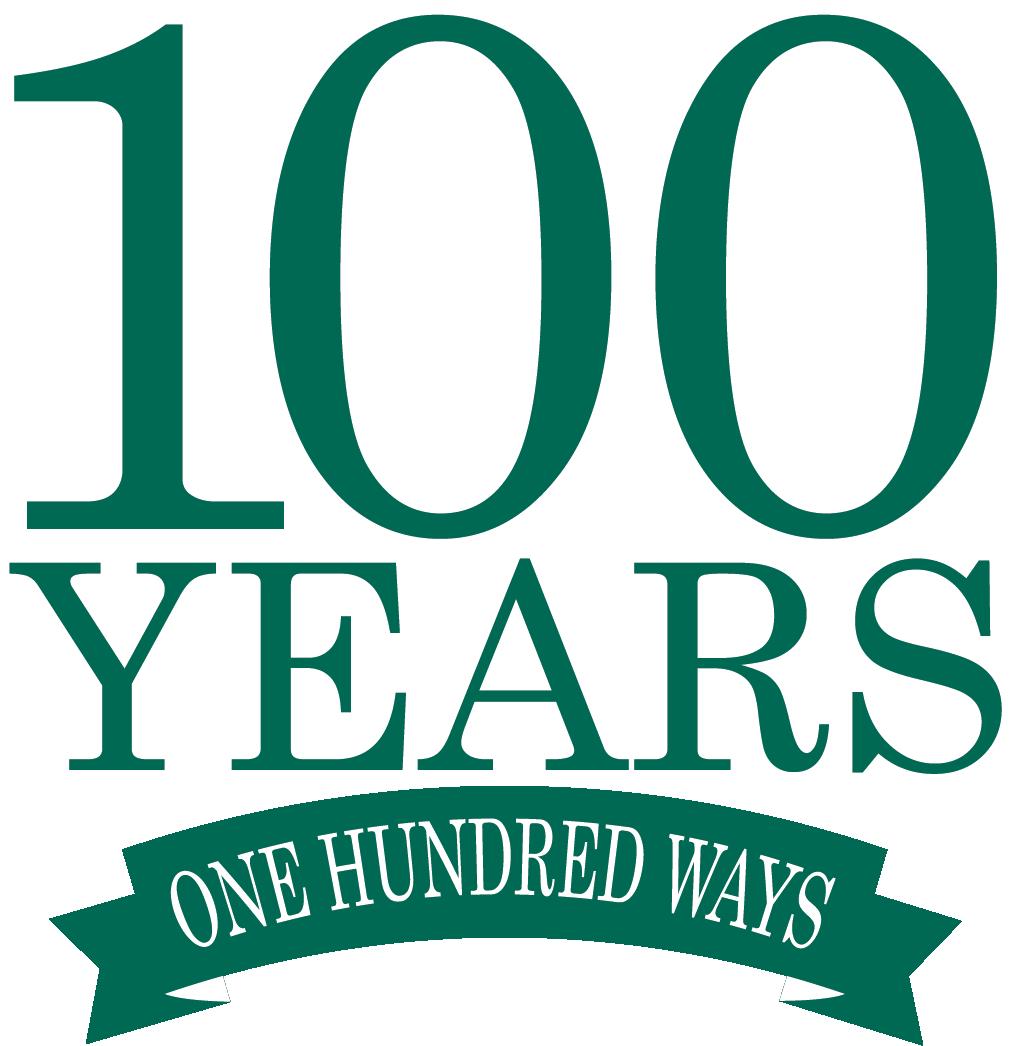 100 years 100 ways logo
