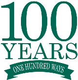 100 years 100 ways logo