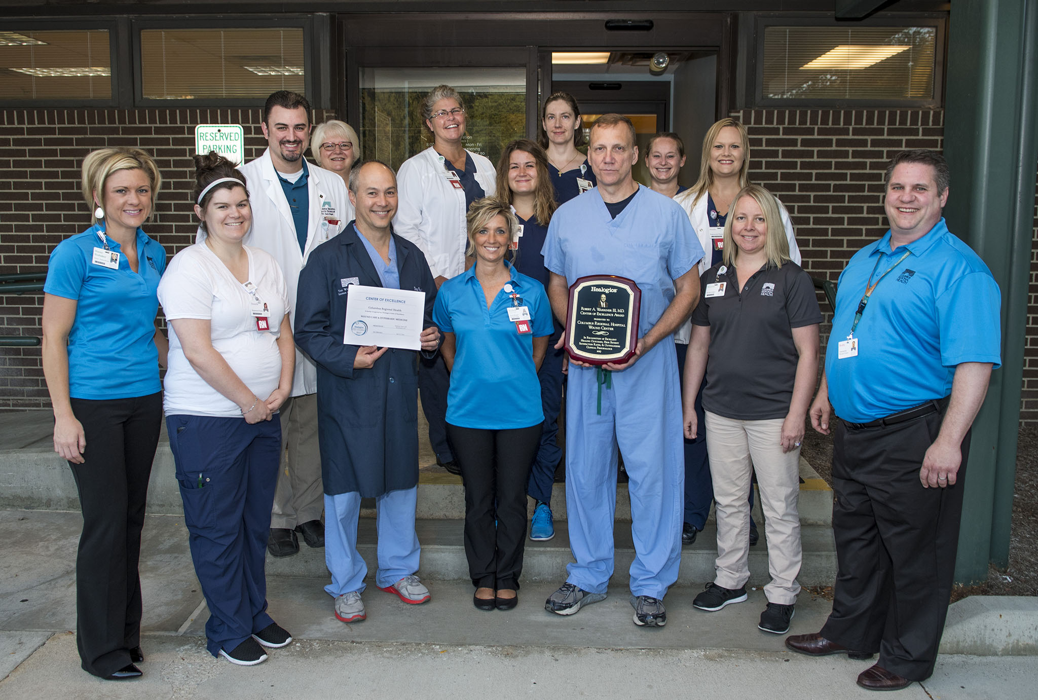 Wound Center staff group photo