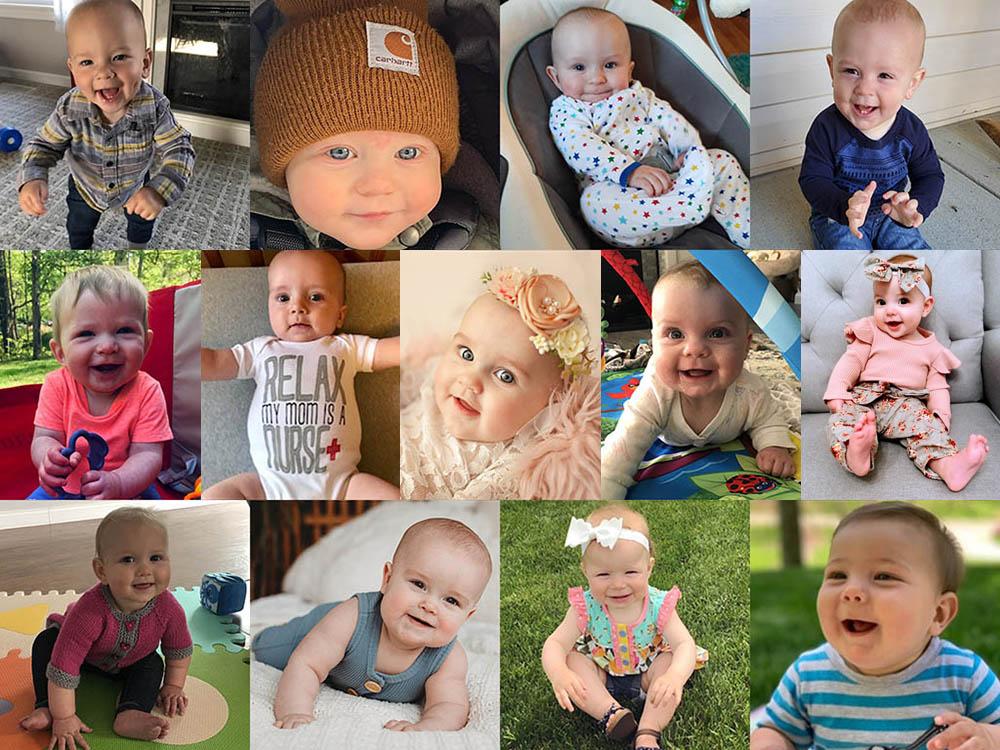 Collage of photos of children.