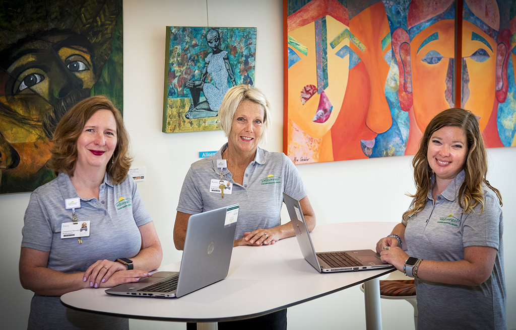 WellConnect Connection Specialists Sara, Kristi and Kelly