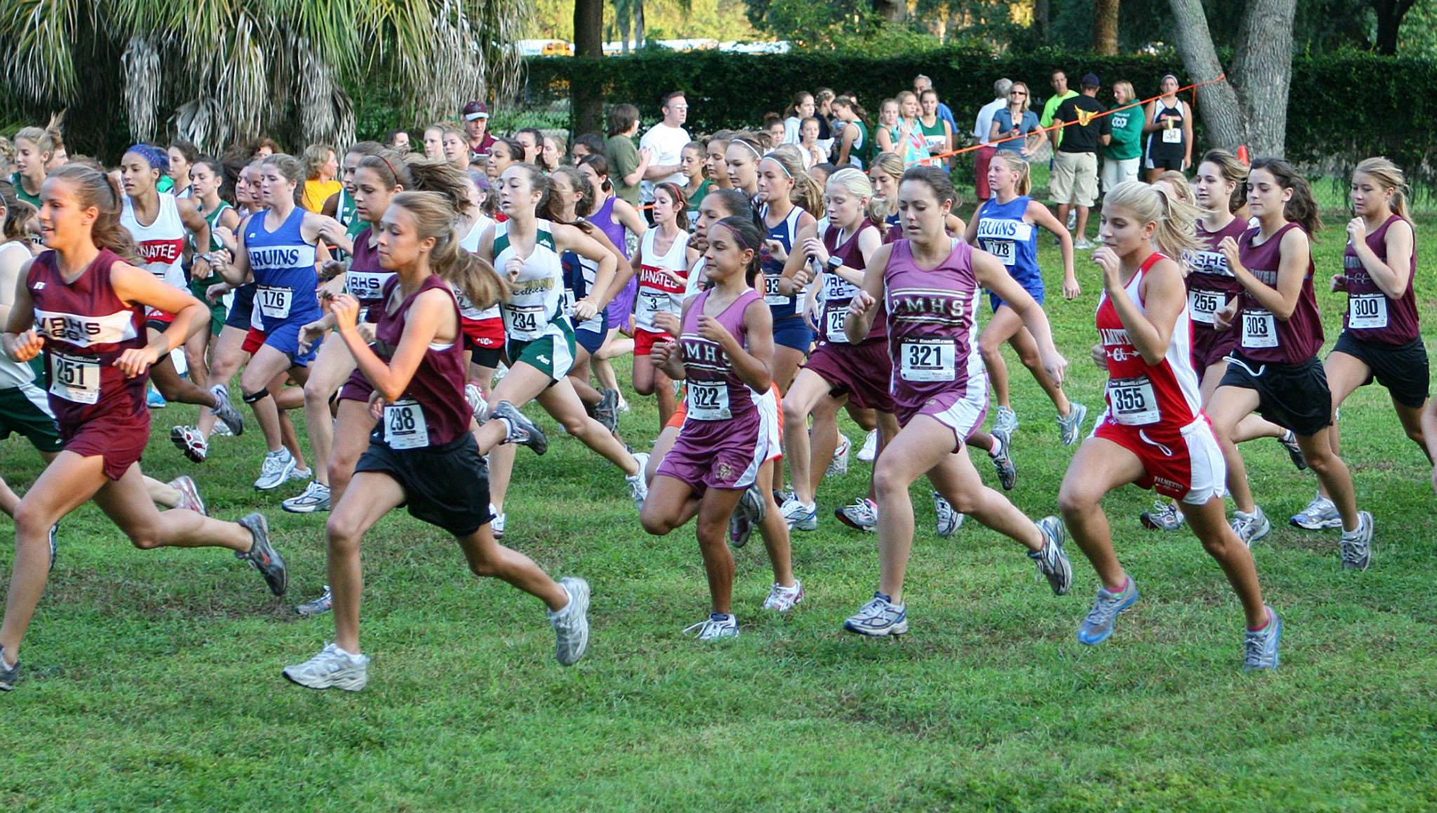 High school girls cross country runners