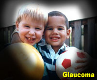 Simulation photograph: glaucoma