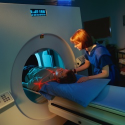 Phpt of person getting CT scan.