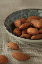 Photo of almonds in a dish