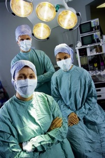 Photo of three surgeons