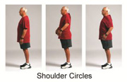 Demonstration of shoulder circles.