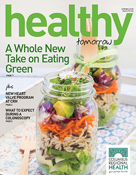 Healthy Tomorrow spring 2018 cover