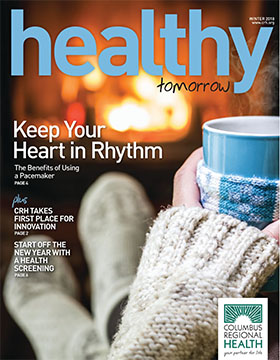 Winter 2018 cover of Health Tomorrow