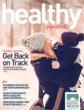 Winter 2017 Healthy Tomorrow issue cover