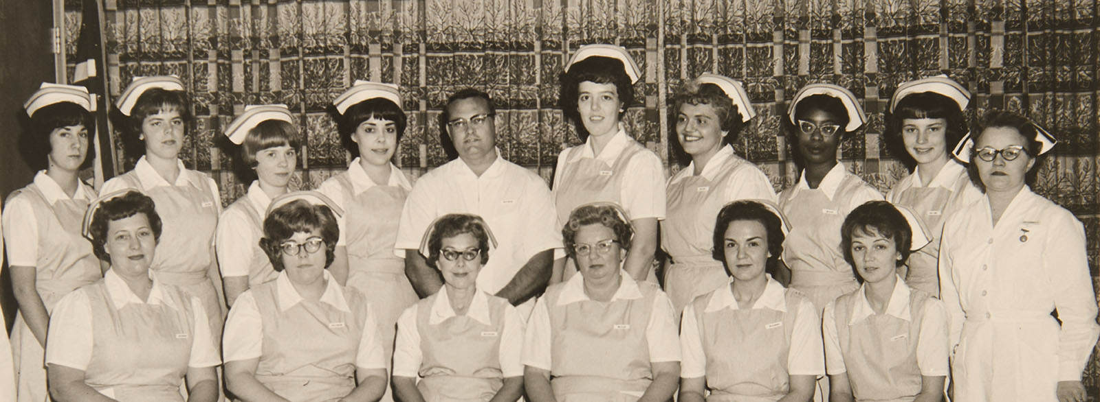 Group photo of nurses from the 1960s