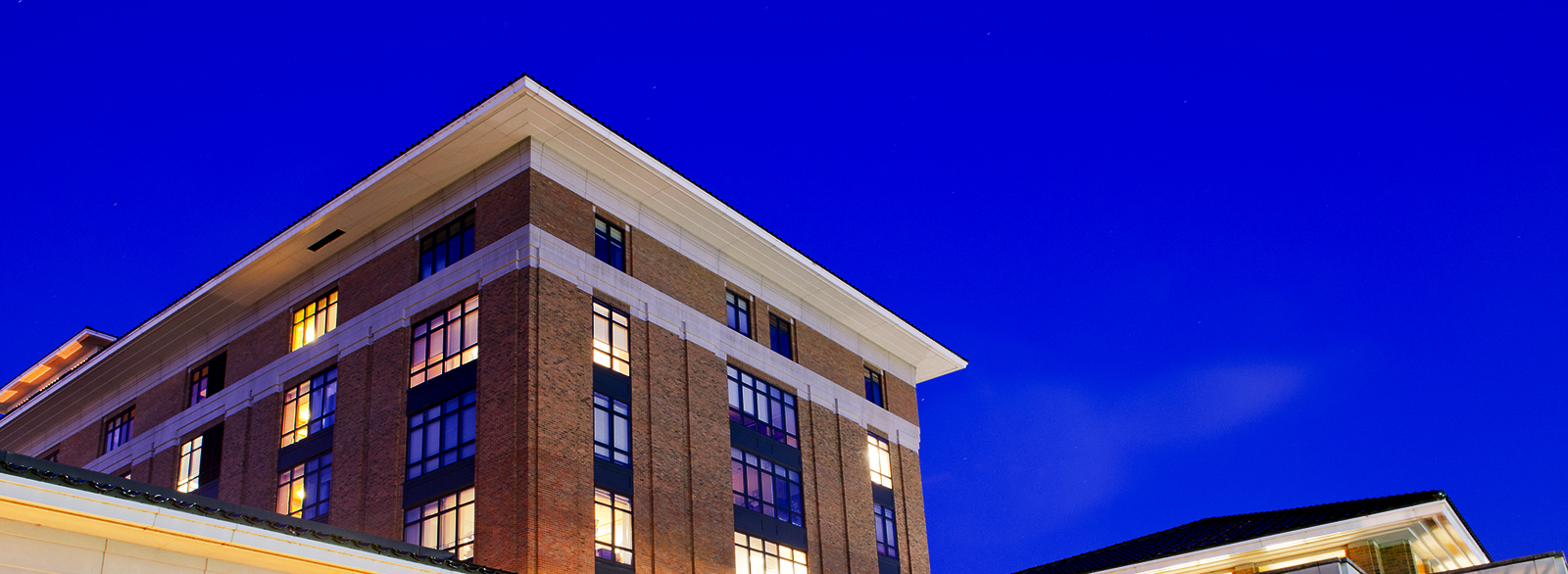 Columbus Regional Hospital exterior, night