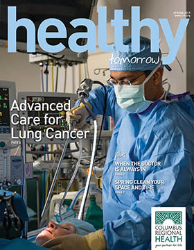 Spring 2019 cover of Healthy Tomorrow