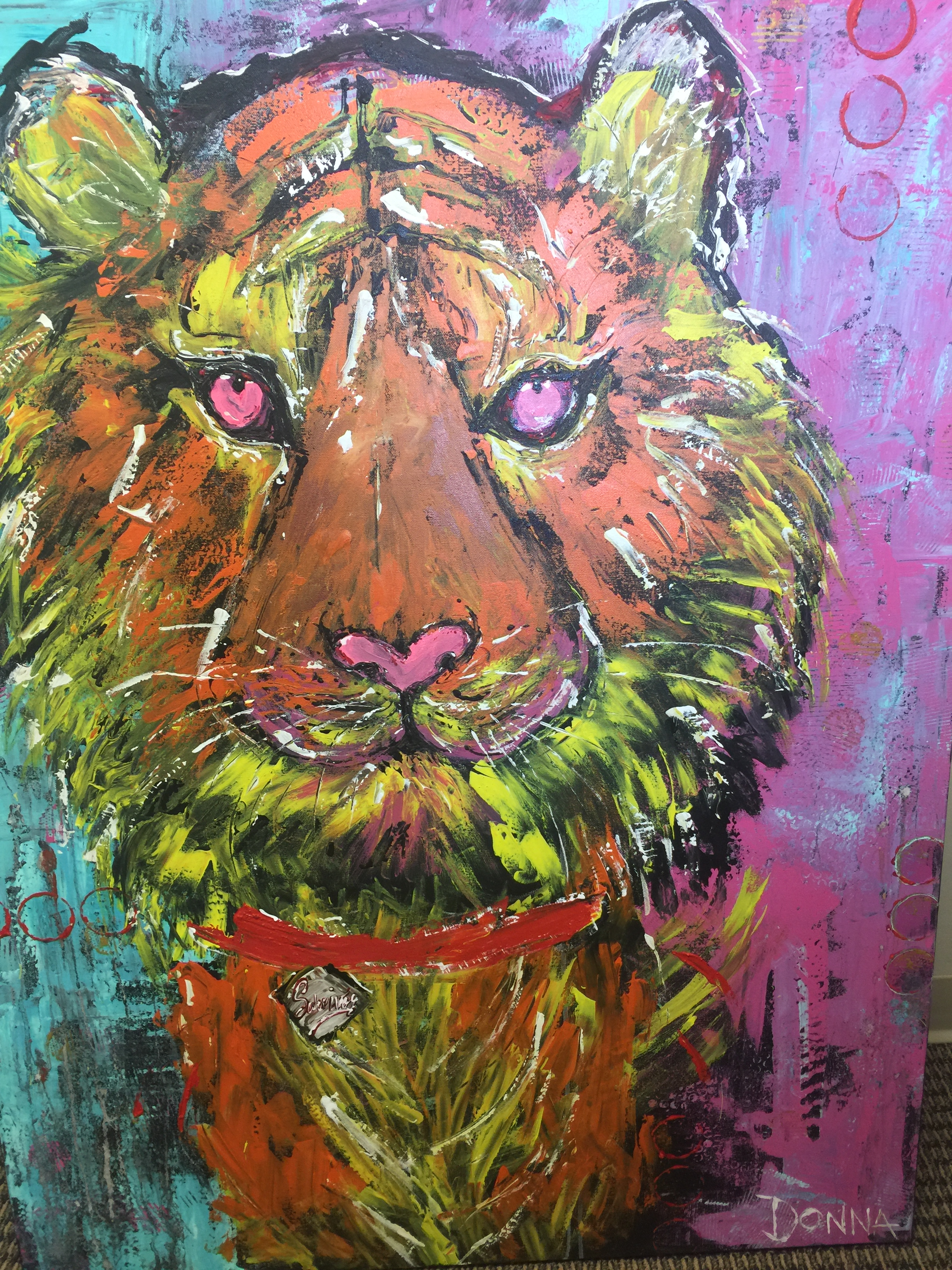 Eye of the Tiger original Art